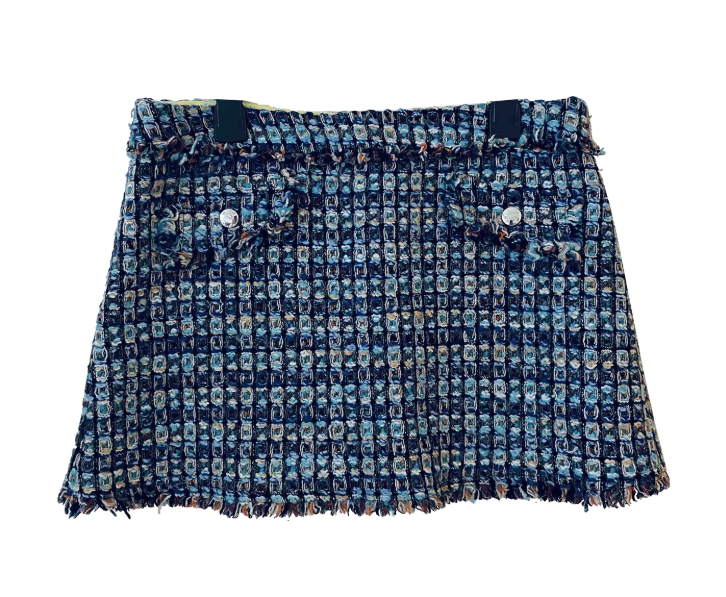 Vintage Versus wool tweed mini skirt, size 38