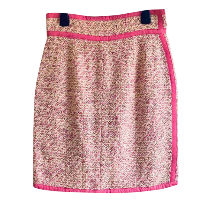 Vintage Chanel tweed mini skirt, size 38