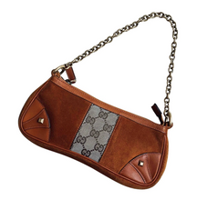 Load image into Gallery viewer, Vintage Gucci suede handbag
