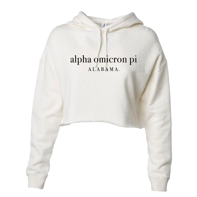 Women's Lightweight Hooded Pullover Crop Sweatshirt