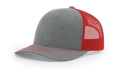 Heather Grey/Red