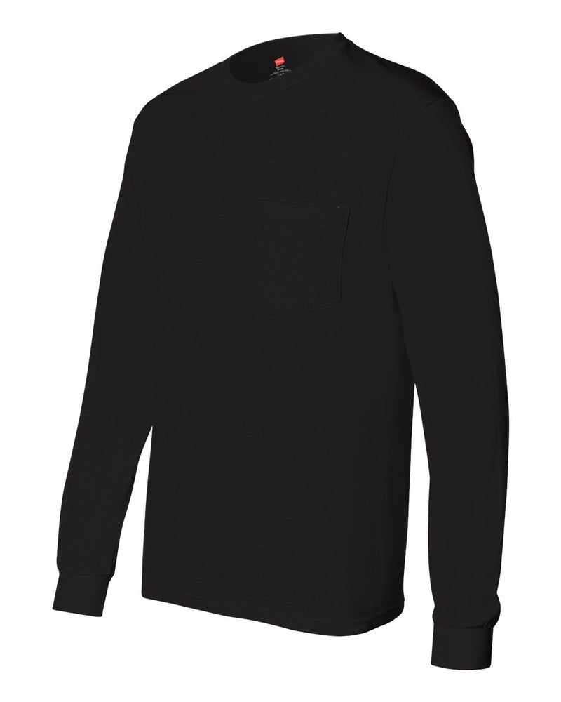 Tagless Long Sleeve T-Shirt (Pocket)