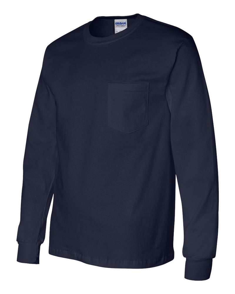Ultra Cotton Long Sleeve T-Shirt (Pocket)