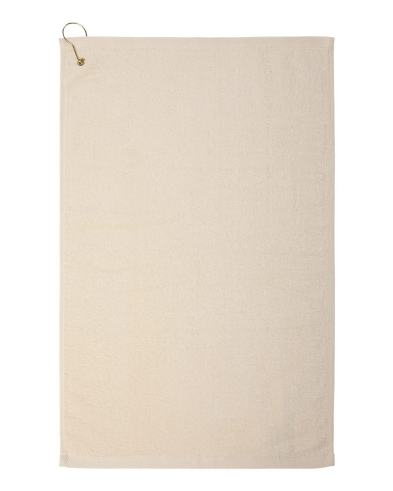 Hemmed Hand Towel with Corner Grommet and Hook