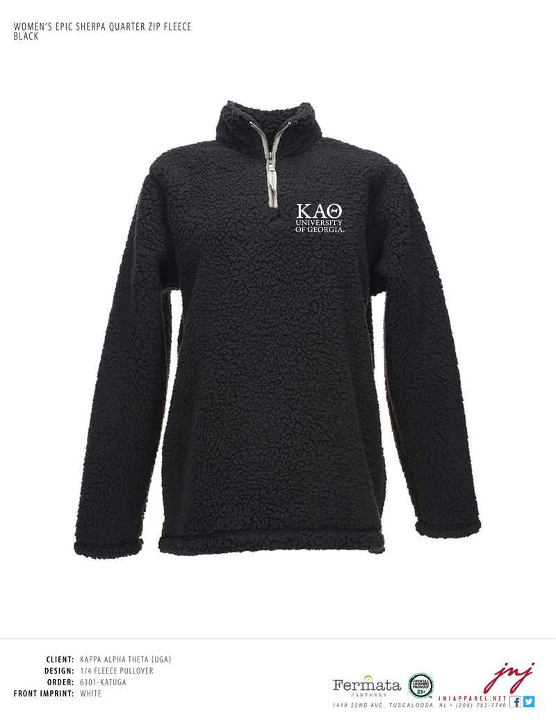Ladies 1/4 Fleece Pullover
