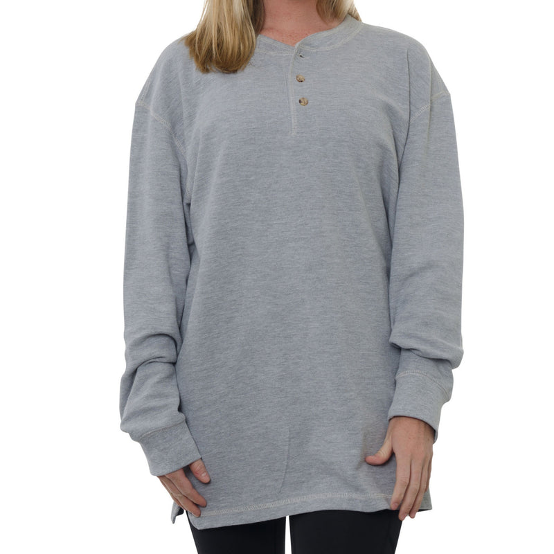 2 Button Waffle Henley