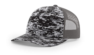 Black Digital Camo/Charcoal