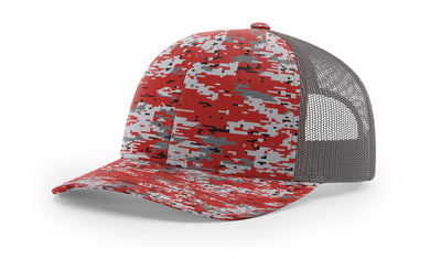 Red Digital Camo/Charcoal