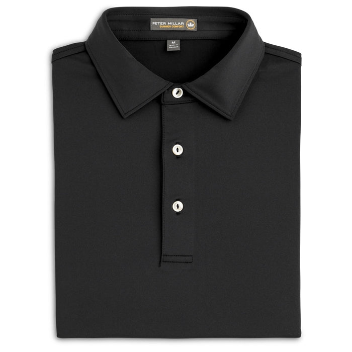 Peter Millar Men's Solid Stretch Jersey Self Collar Polo