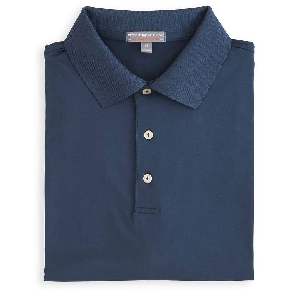 Peter Millar Men's Solid Stretch Jersey Knit Collar Polo