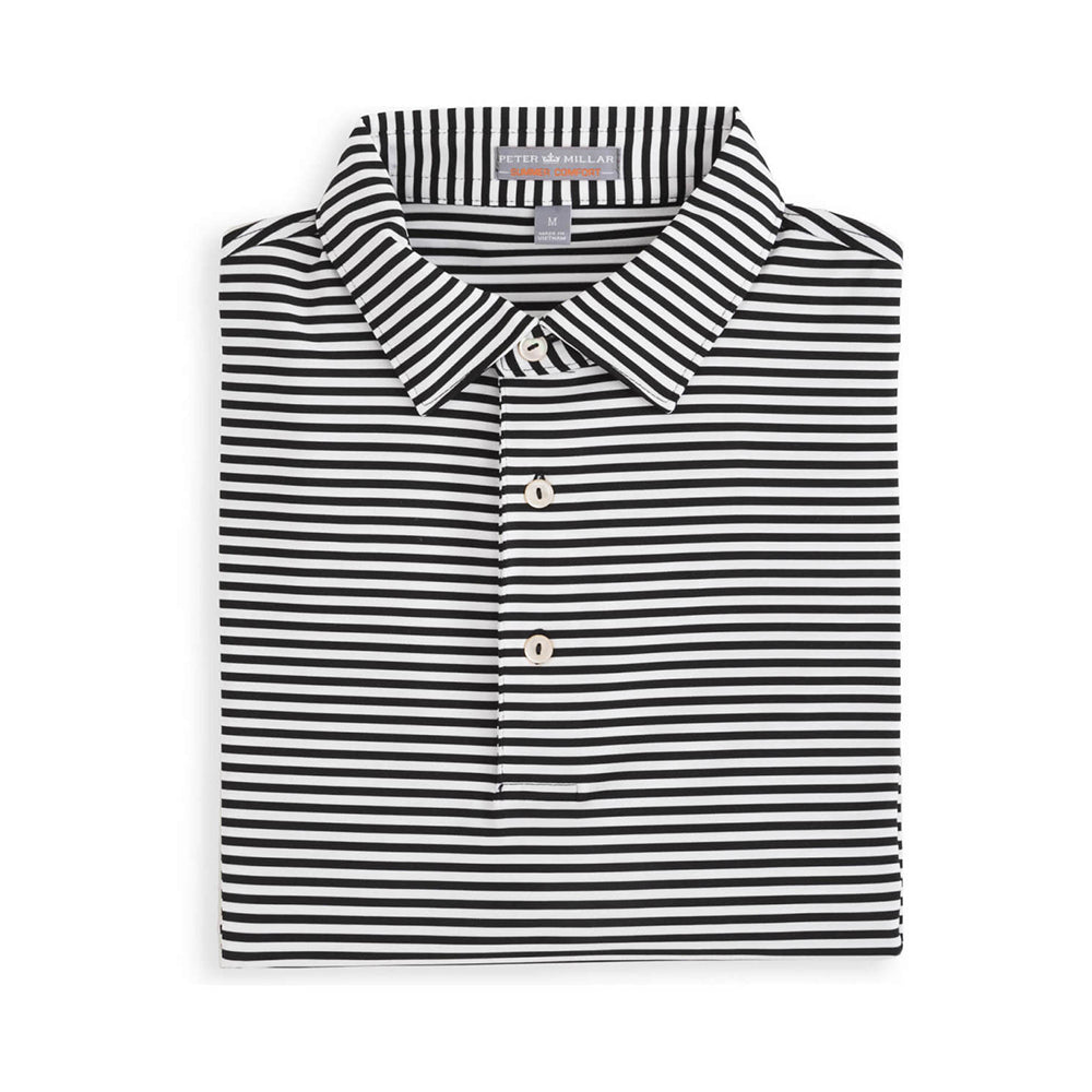 Peter Millar Men's Competition Stripe Stretch Jersey Self Collar Polo