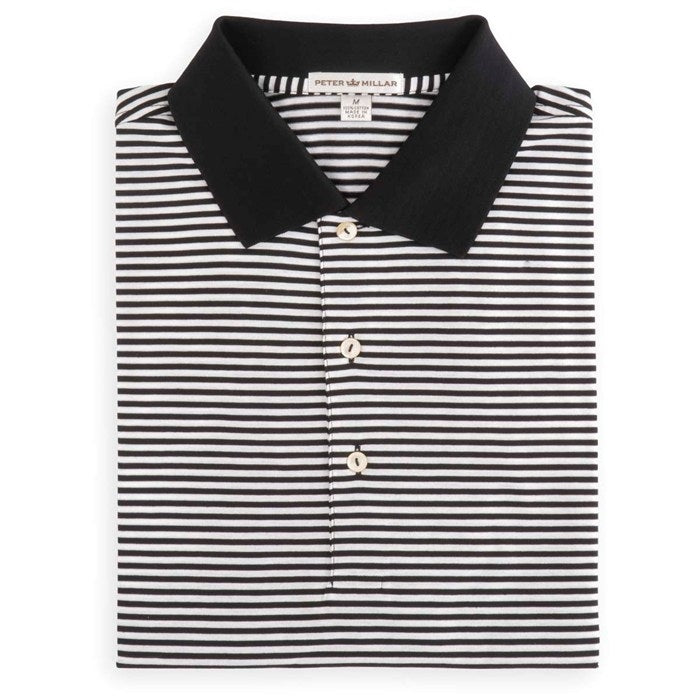 Peter Millar Men's Classic Stripe Lisle Knit Collar Polo
