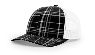 Plaid Black/Charcoal/White