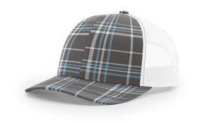 Plaid Charcoal/Columbia Blue/White