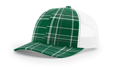 Plaid Dark Green/ Charcoal/White