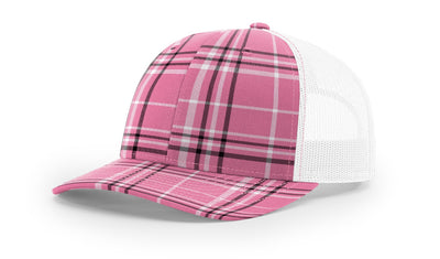 Plaid Hot Pink/Black/White