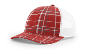 Plaid Red/ Charcoal/White