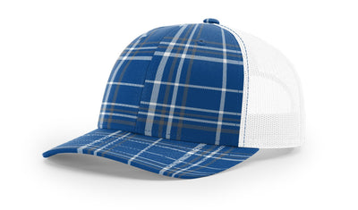 Plaid Royal/Charcoal/White