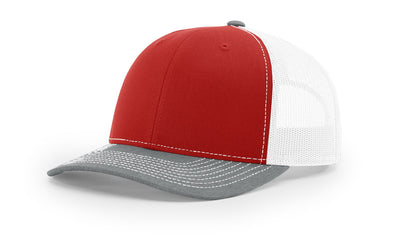Red/White/Heather Grey