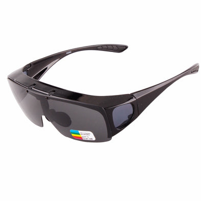 UNISEX flip-up polarized fit over prescription UV400 lens cover sunglasses