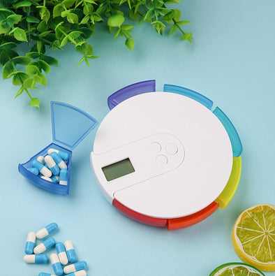 Electronic Reminder Timer Small Pill Case Dispenser