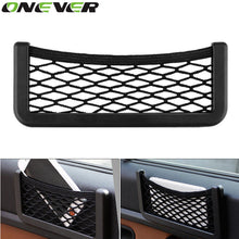 Load image into Gallery viewer, Onever Auto Storage Mesh Net Bag Holder Pocket Organizer Auto Interior Accessories Car Organizer Stowing Tidying