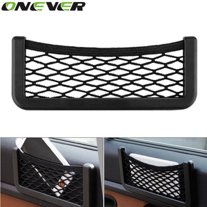 Onever Auto Storage Mesh Net Bag Holder Pocket Organizer Auto Interior Accessories Car Organizer Stowing Tidying
