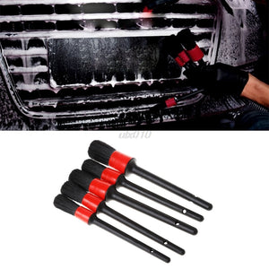Natural Boar Hair Detail Brush Auto Detailing Brush Set Perfect for Car Motorcycle Cleaning Wheels Dashboard 5PCS/SET Mar