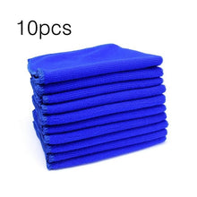 Load image into Gallery viewer, 10pcs 30x30cm Large Microfiber Cleaning Cloth Professional Auto Car Soft Cloth Wash Towels Duster Rags for Home Kitchen