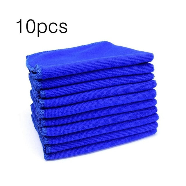 10pcs 30x30cm Large Microfiber Cleaning Cloth Professional Auto Car Soft Cloth Wash Towels Duster Rags for Home Kitchen