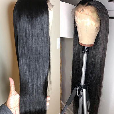 Fake Scalp Lace Wig 13x6 Lace Front Wig Straight Virgin Hair - NAZODA
