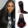 4x4 Lace Closure Wig Straight Virgin Hair