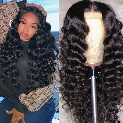 13x4 Lace Front Wig Loose Wave Virgin Hair - NAZODA