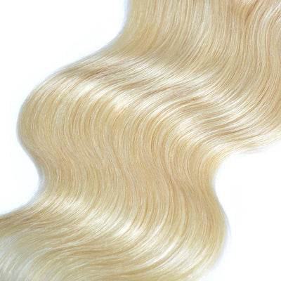 Virgin Human Hair Blonde #613 Body Wave 4x4 Lace Closure