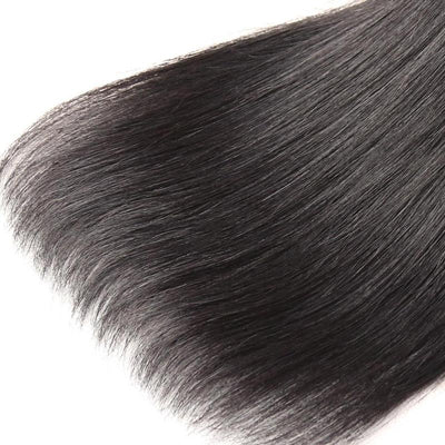 Buy 3 Bundles Get Free Lace Closure - Virgin Hair Bundles Straight Human Hair Weave - NAZODA