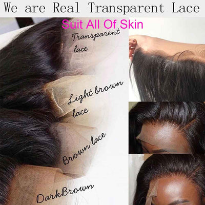 Transparent Lace 13x6 Lace Front Wig HD Lace Wig Deep Curly Virgin Hair