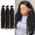 Buy 3 Bundles Get Free Lace Closure - Virgin Hair Bundles Deep Wave/Curly Human Hair Weave