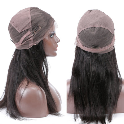 Glueless Full Lace Wig Straight Virgin Hair