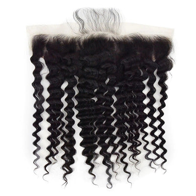 Virgin Hair Deep Wave Bundles With HD Lace Frontal