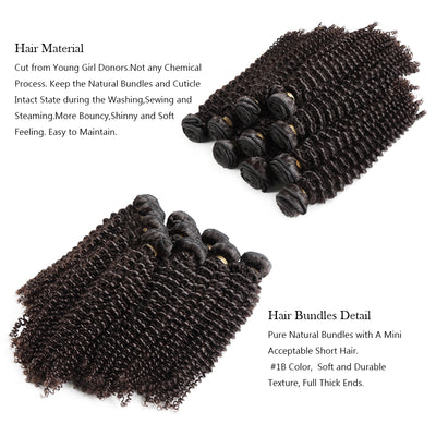 10A Kinky Curly Bundles for Wholesale - Get Free Lace Closures, Lace Frontals, Wigs - NAZODA