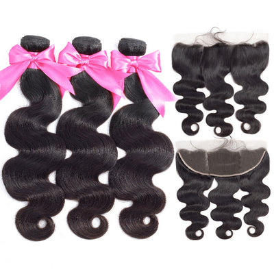 Virgin Hair Body Wave Bundles With Frontal - NAZODA