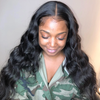 Transparent Lace 13x6 Lace Front Wig HD Lace Wig Loose Wave Virgin Hair - NAZODA