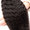 Virgin Hair Kinky Straight Bundles With Closure