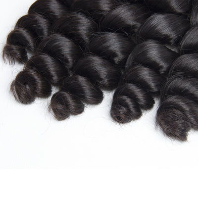 Virgin Hair Loose Wave Bundles With Closure