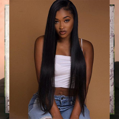 "Virgin Straight Bundles 26"" 26"" + 20"" Lace Frontal"