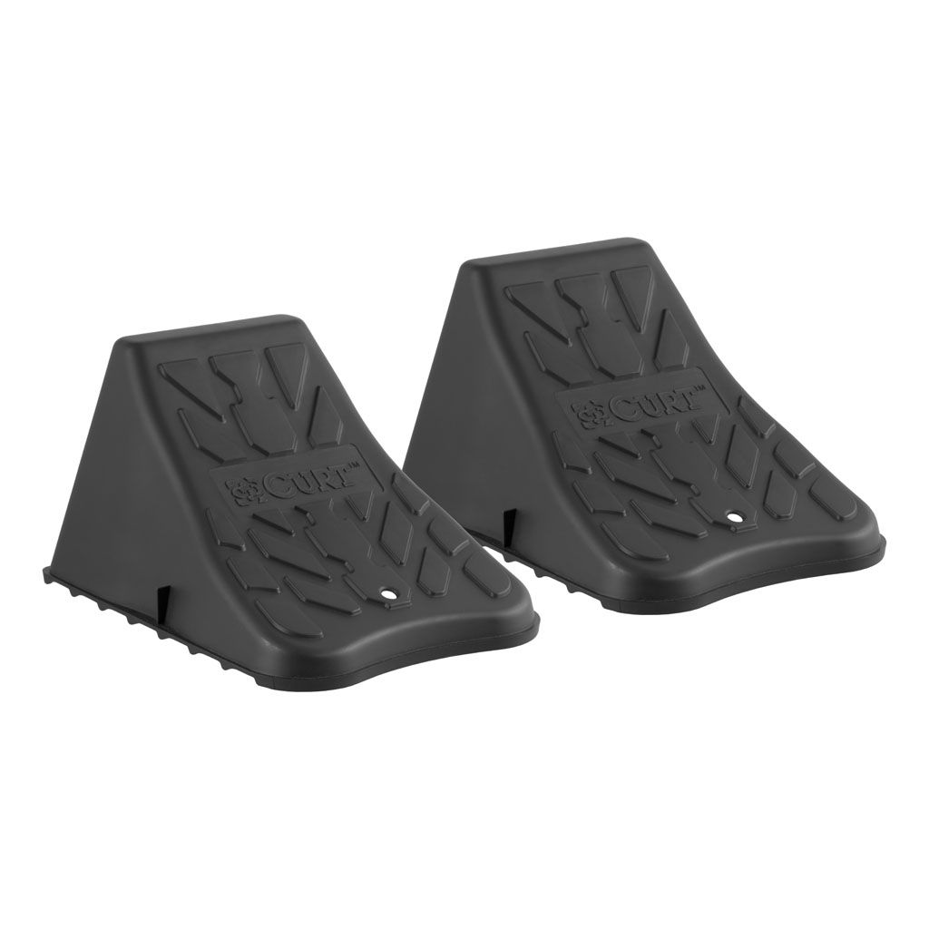 Curt Wheel Chock set of 2 up to 17 inch wide wheels