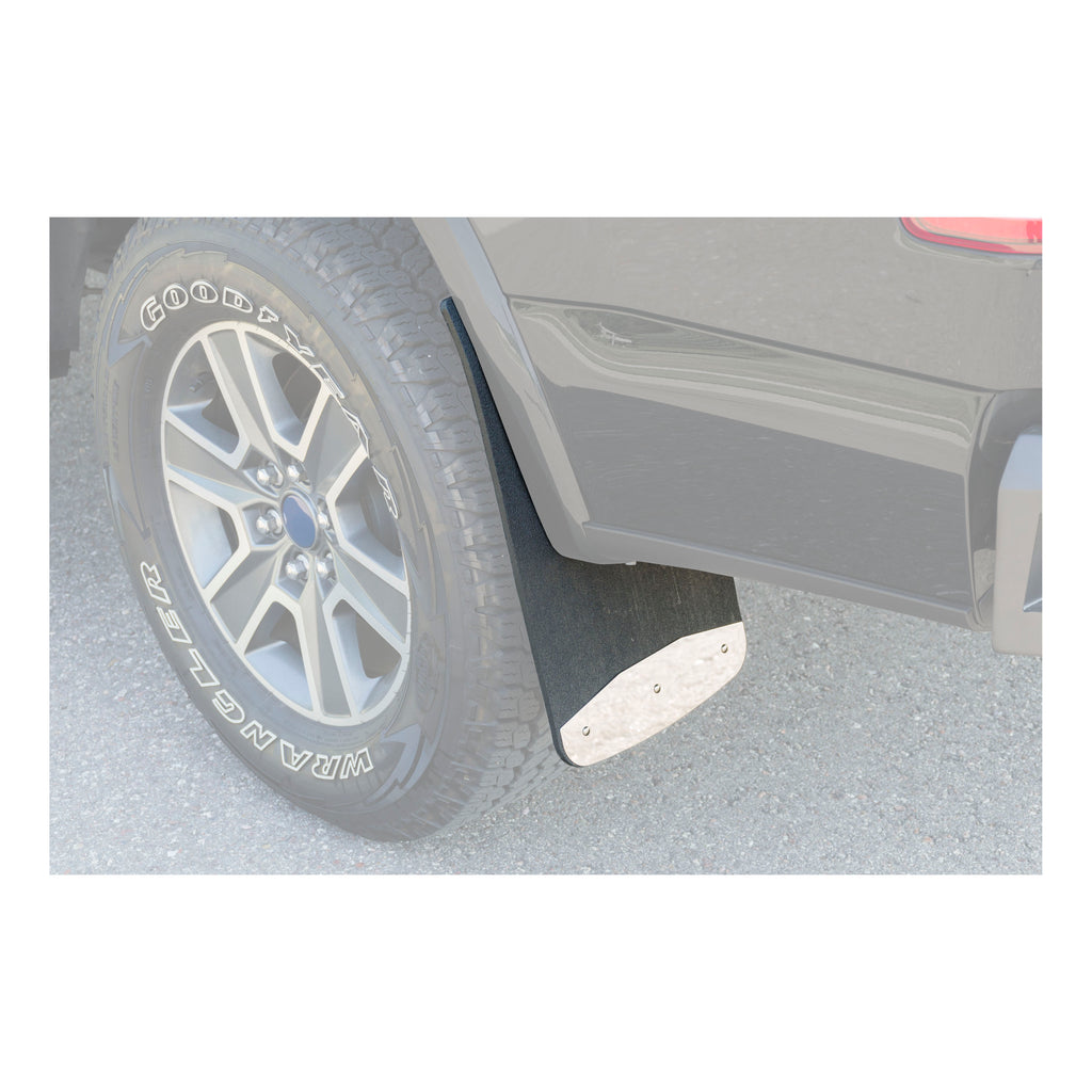 "Front or Rear 12"" x 23"" Textured Rubber Mud Guards, Select Silverado, Sierra"