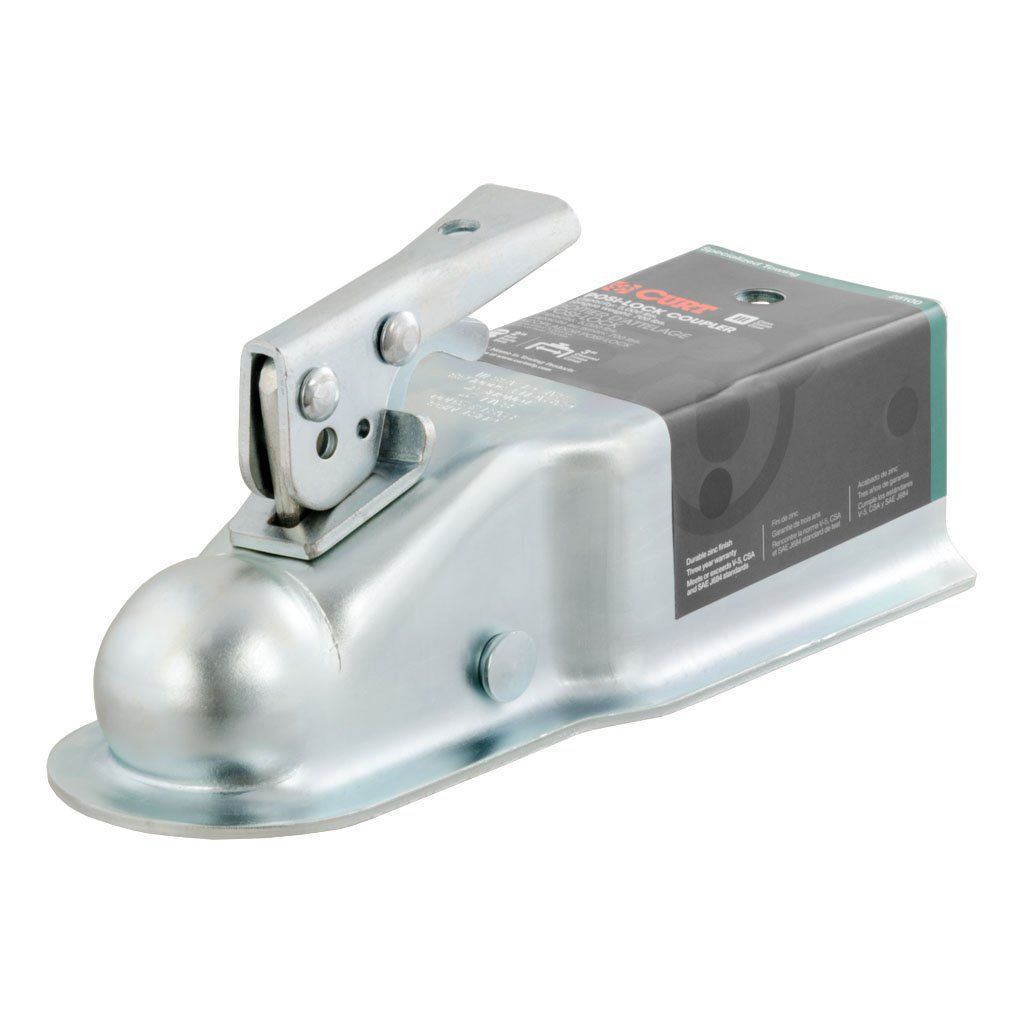 "2"" STRAIGHT-TONGUE COUPLER WITH POSI-LOCK (3"" CHANNEL, 5,000 LBS., ZINC) #25100"