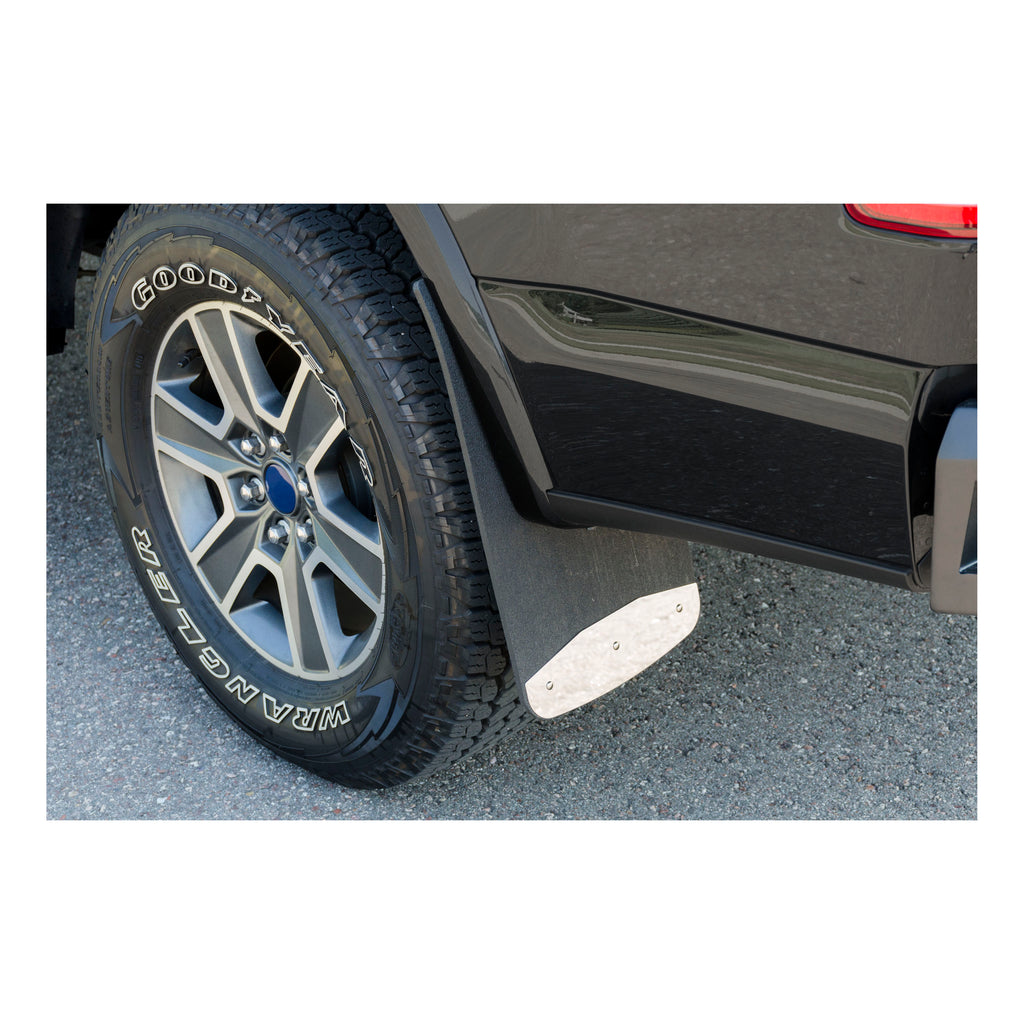 "Front or Rear 12"" x 23"" Textured Rubber Mud Guards, Select Ford Super Duty"