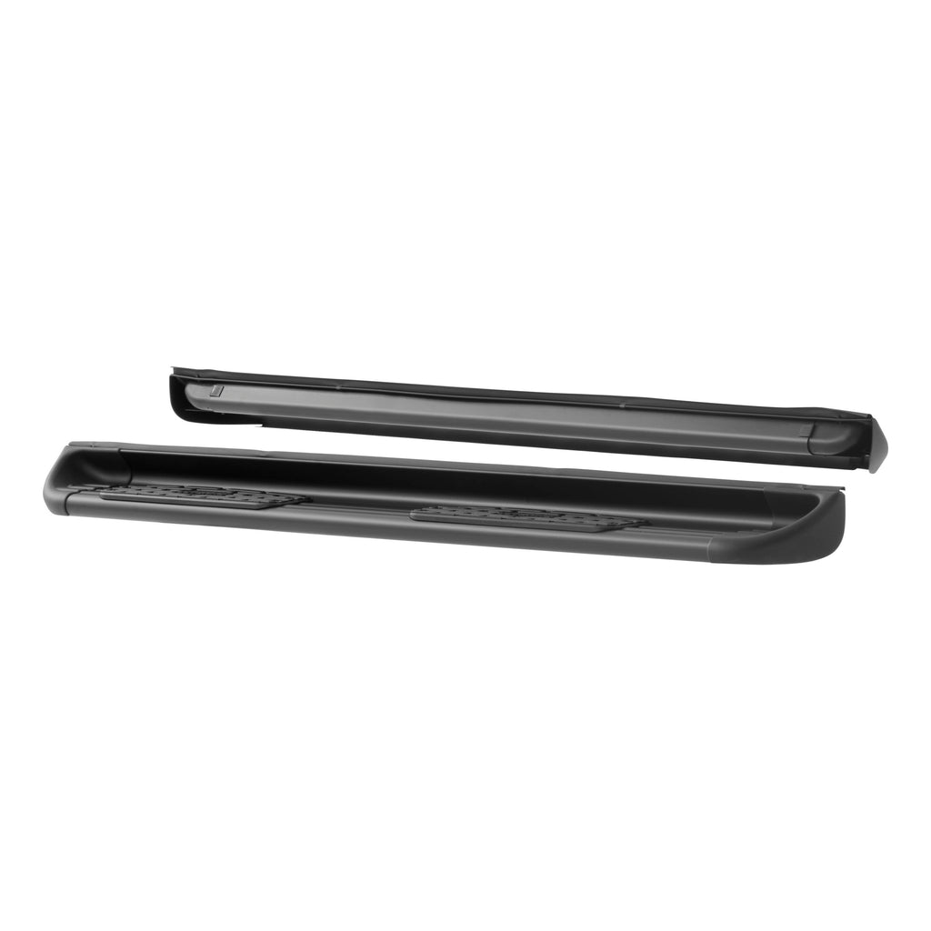 Black Stainless Steel Side Entry Steps, Select Silverado, Sierra Double Cab